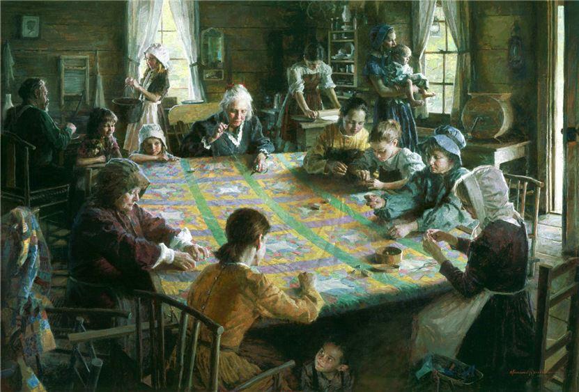 Когда есть чем заняться — стареть некогда: душевные картины о бабушках-рукодельницах, фото № 44
