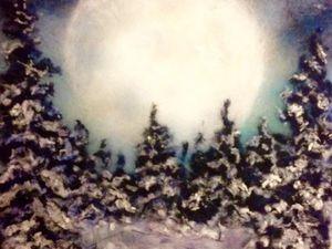 Шерстяная живопись - Картина из шерсти на зимнюю тему на Ваш выбор!   Ярмарка Мастеров - ручная работа, handmade