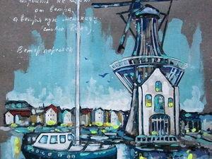 ГРАФИКА, Голландия, формат А4, художник А. Шуберт. Ярмарка Мастеров - ручная работа, handmade.