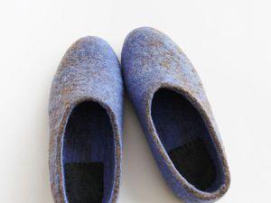 тапочки валяные из домашней карачаевской шерсти | Ярмарка Мастеров - ручная работа, handmade