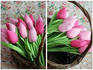 -20% на Текстильные тюльпаны при заказе от 7 штук | Ярмарка Мастеров - ручная работа, handmade