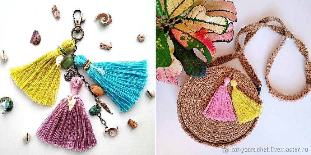 knitted bag, crochet scheme