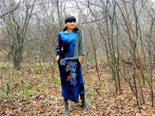 НОВИНКА! Женский  костюм с вышивкой | Ярмарка Мастеров - ручная работа, handmade