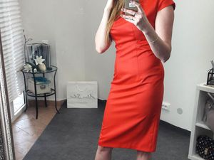 Красное платье из итальянской шерсти | Ярмарка Мастеров - ручная работа, handmade