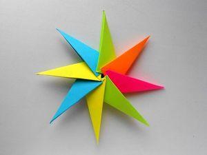 Творим в технике оригами: звезда из бумаги. Ярмарка Мастеров - ручная работа, handmade.