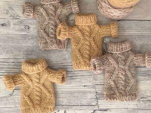 Вяжем уютную кофточку для игрушки. Ярмарка Мастеров - ручная работа, handmade.