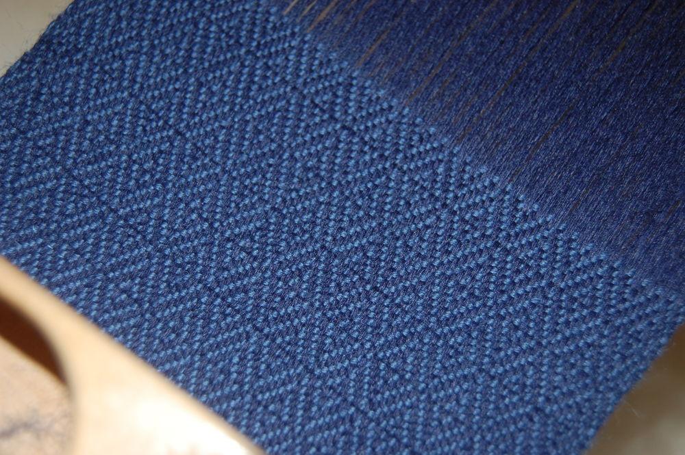 ручная ткань, шерсть, индиго