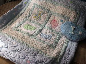 Приглашаю на аукцион : одеяло с котятами и подушка- душевный папа-кот | Ярмарка Мастеров - ручная работа, handmade