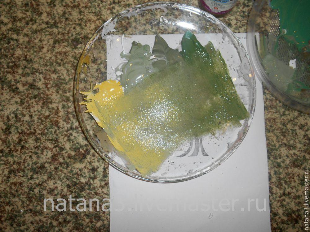 роспись, дерево с лимонами