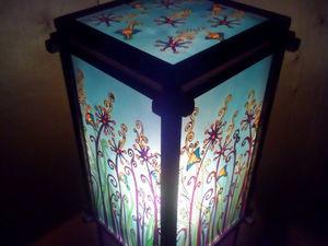 Делаем симпатичный торшер с использованием витражной росписи. Ярмарка Мастеров - ручная работа, handmade.