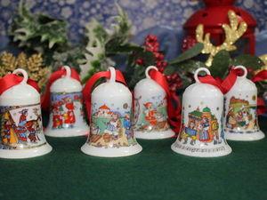 Фарфоровые колокольчики для елочки от Hutschenreuther. Ярмарка Мастеров - ручная работа, handmade.