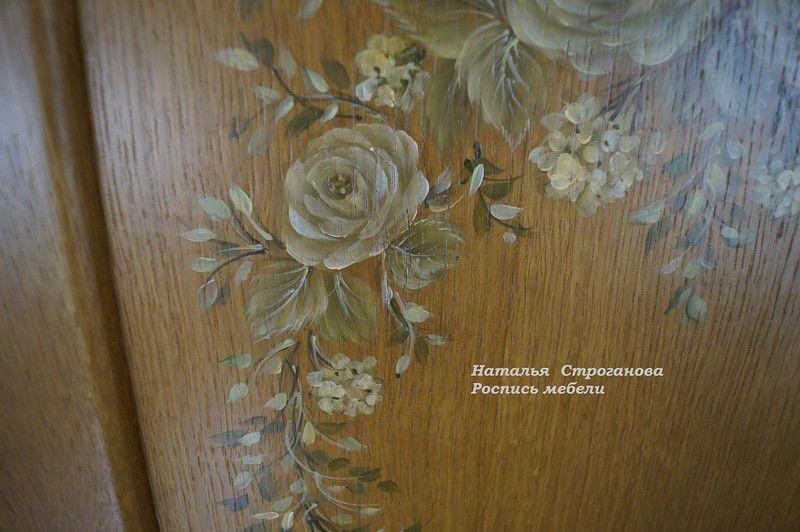 кухня с росписью, курсы роспись мебели
