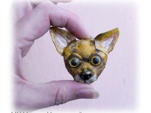 Делаем текстильную брошку-собачку. Ярмарка Мастеров - ручная работа, handmade.