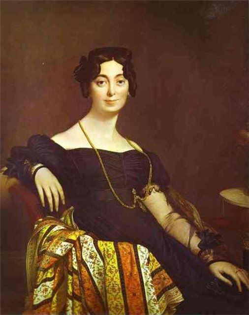 Portrait of Madame Leblanc. 1823