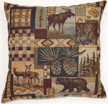 Northwoods Decorative Pillow by Creative Home Furnishings.  Available in 17 x 17 or 26 x 26 sizes.