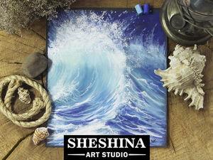 Видеоурок: рисуем морскую волну сухой пастелью. Ярмарка Мастеров - ручная работа, handmade.