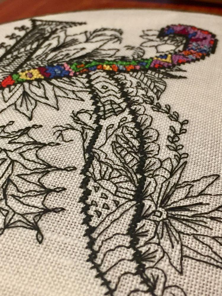 схема для вышивки, литера, сувенир