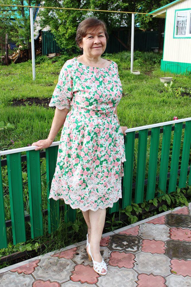 платье из хлопка, простое платье
