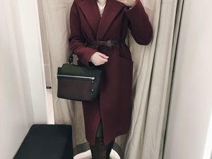 Пальто Red Wine. Ярмарка Мастеров - ручная работа, handmade.
