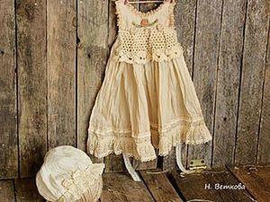 How to Age a Dress for a Doll and Dye with Herbs. Livemaster - handmade