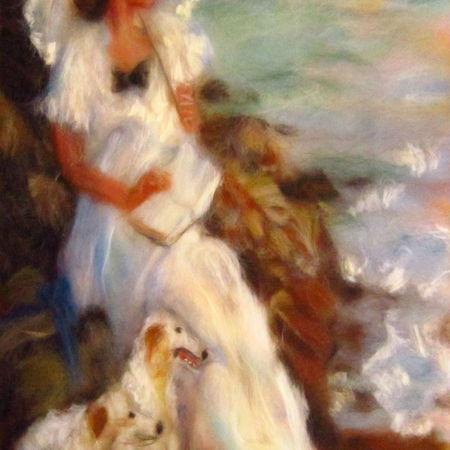 Мастер-класс по картинам из шерсти  - Сирень, Кот, Дама с собачками | Ярмарка Мастеров - ручная работа, handmade