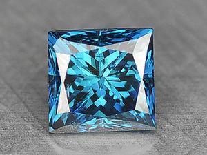 Синий Бриллиант 0,11 карат. Ярмарка Мастеров - ручная работа, handmade.