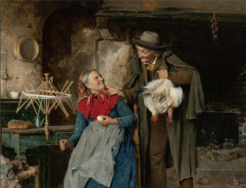 Когда есть чем заняться — стареть некогда: душевные картины о бабушках-рукодельницах, фото № 67