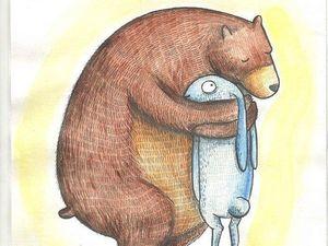 Мишка Skittle и его зайка.. Ярмарка Мастеров - ручная работа, handmade.