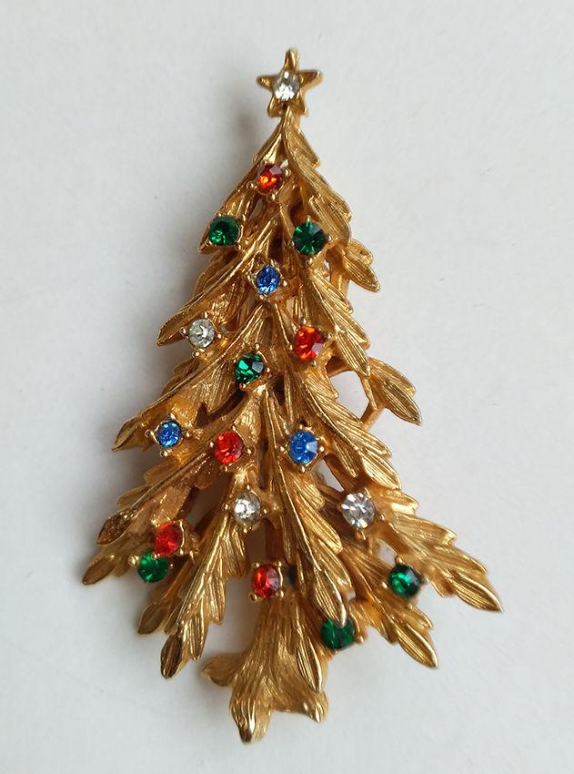 брошь рождественская ель