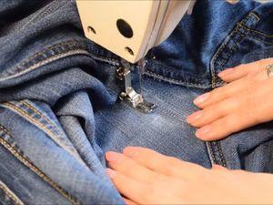Учимся штопать джинсы на швейной машинке. Ярмарка Мастеров - ручная работа, handmade.