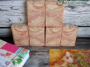 Розовые пески натуральное мыло с нуля. Ярмарка Мастеров - ручная работа, handmade.