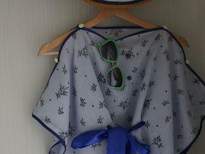 Шьем в два счета простую пляжную накидку. Ярмарка Мастеров - ручная работа, handmade.