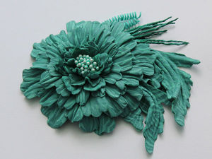 Мастер-класс: брошь осенний цветок из кожи | Ярмарка Мастеров - ручная работа, handmade