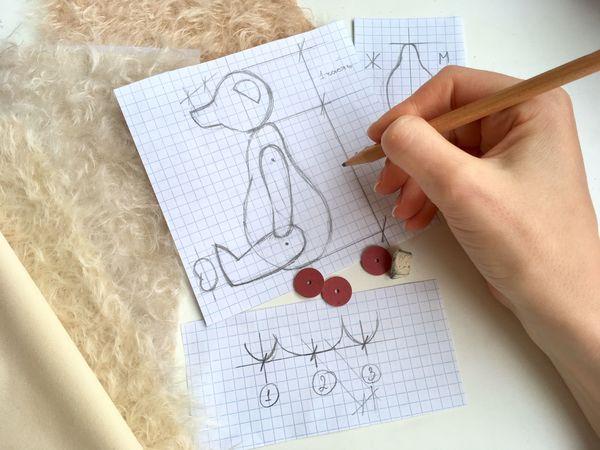 Основные правила построения выкройки мишки Тедди   Ярмарка Мастеров - ручная работа, handmade
