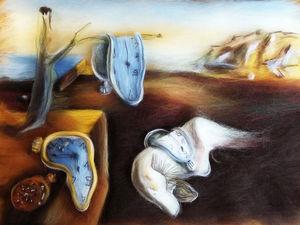 Создаем шерстяную копию картины Сальвадора Дали «Постоянство памяти». Ярмарка Мастеров - ручная работа, handmade.