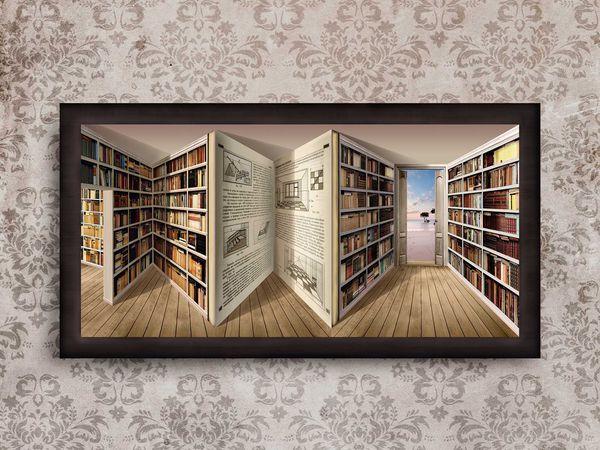 Видео Картины : Библиотека   Ярмарка Мастеров - ручная работа, handmade