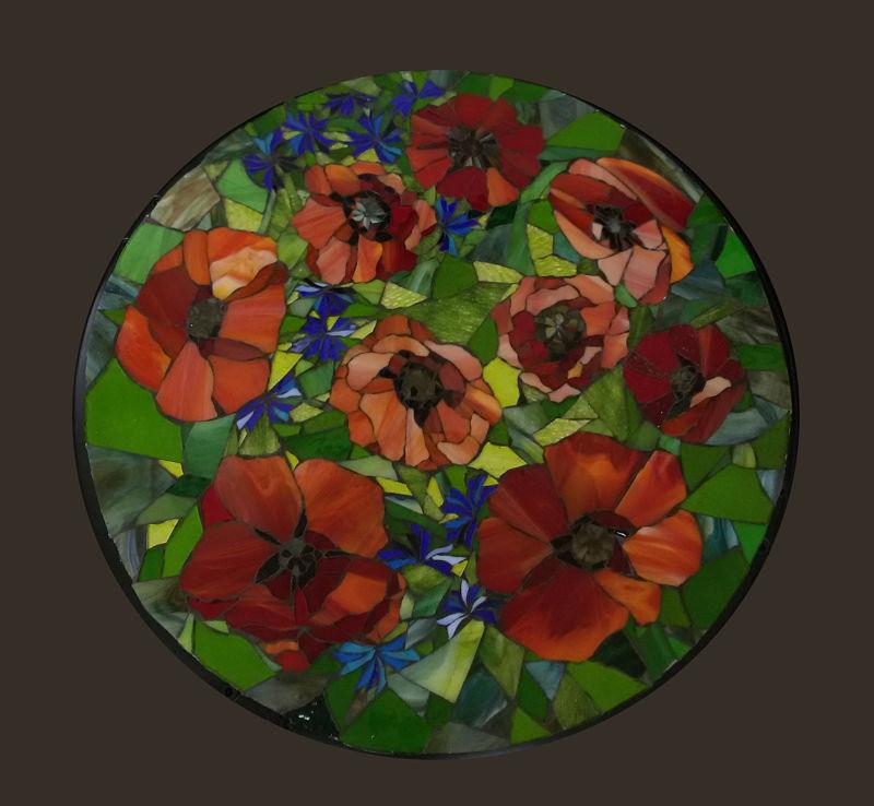 мастер-класс по мозаике, изготовить столик, мастер-класс в москве, столик с цветами, курс по мозаике