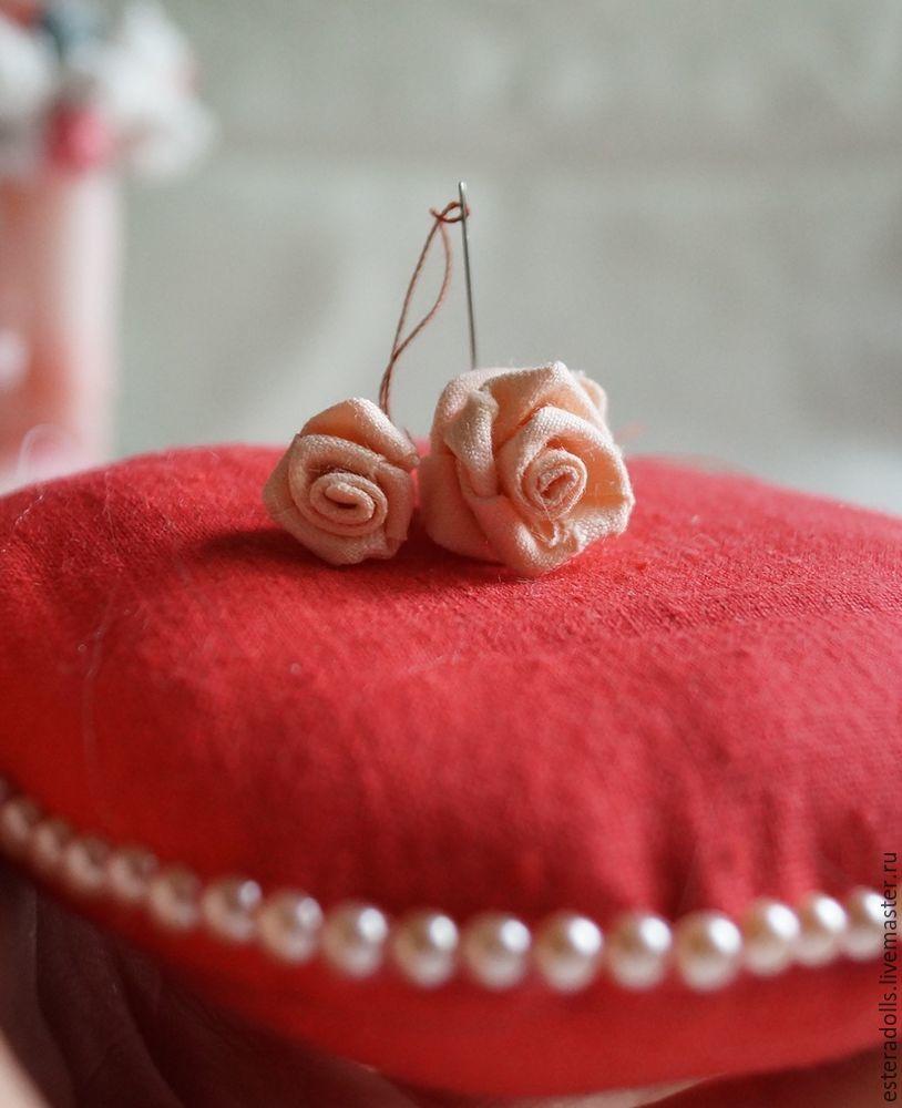 лента, роза из ткани