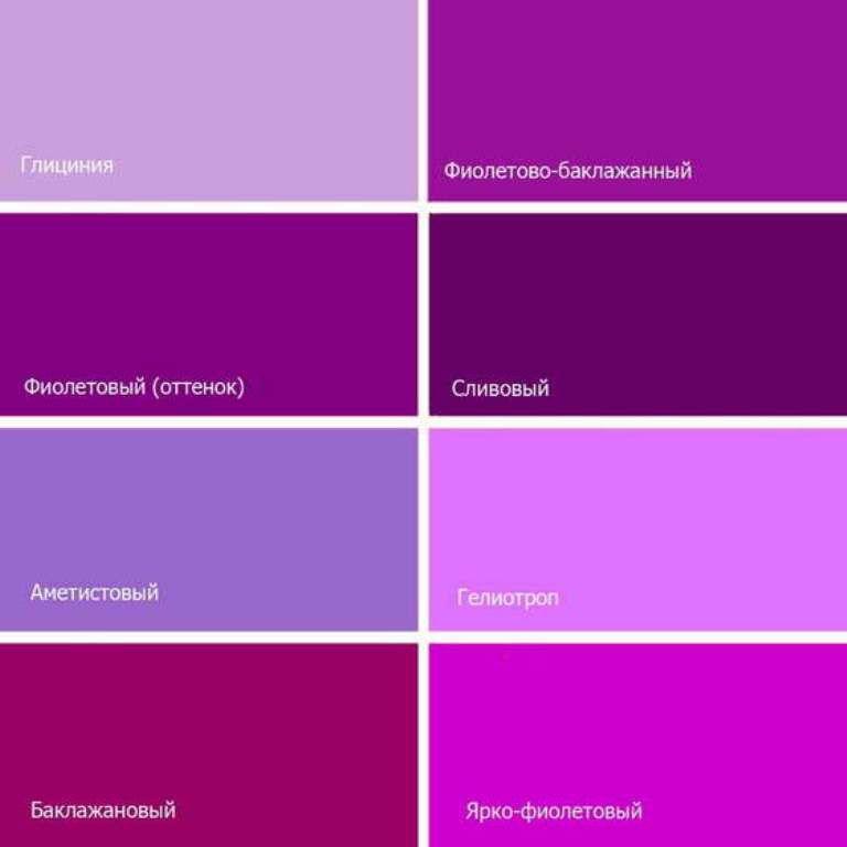 Фиолетовый цвет на английский перевод