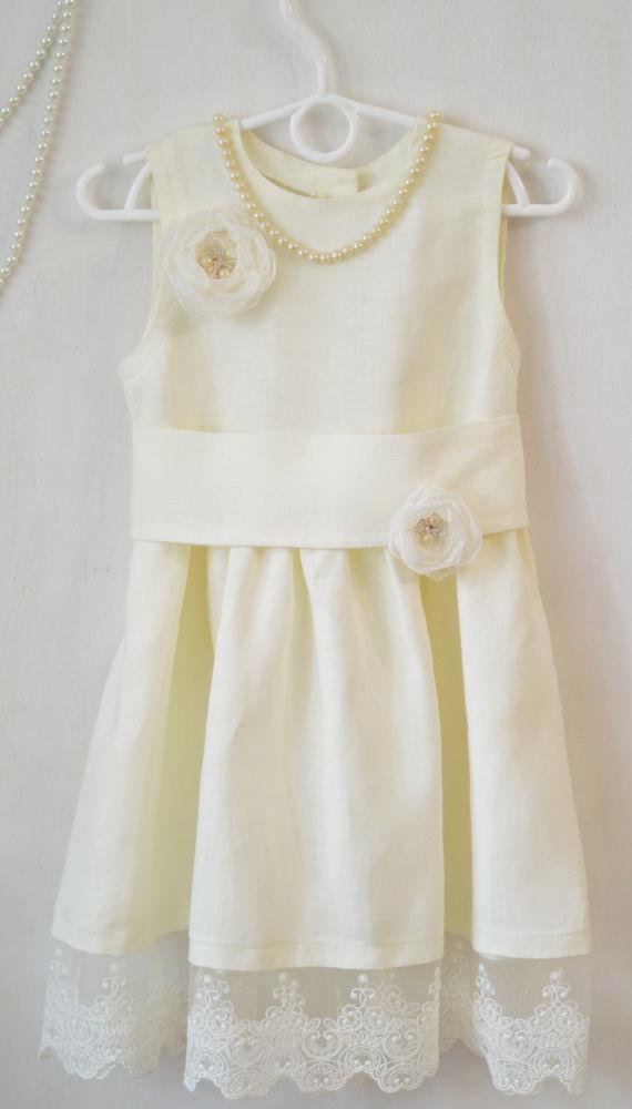 платье из льна, лето