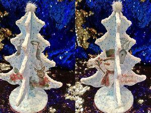 Новогодний декор своими руками. Делаем декупаж новогодней елочки. Ярмарка Мастеров - ручная работа, handmade.