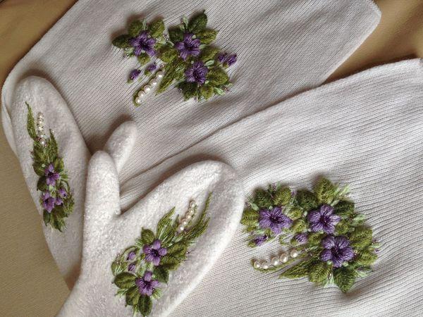 Вышивка лентами, бисером, различными швами. | Ярмарка Мастеров - ручная работа, handmade