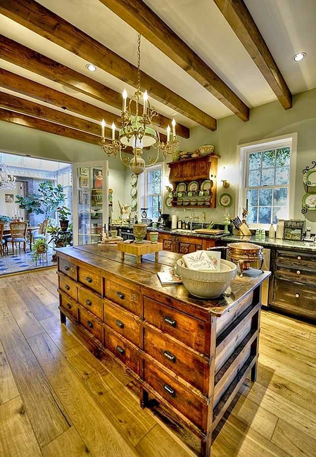 Country French kitchen.