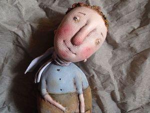 Кукла в технике грунтованный текстиль | Ярмарка Мастеров - ручная работа, handmade