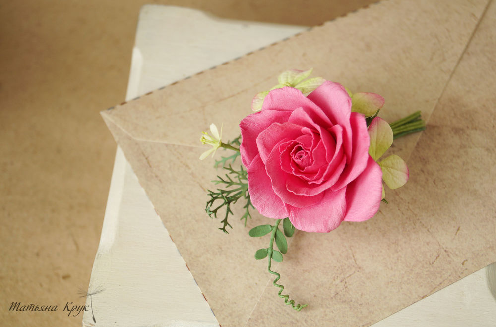 брошь букетик цветов