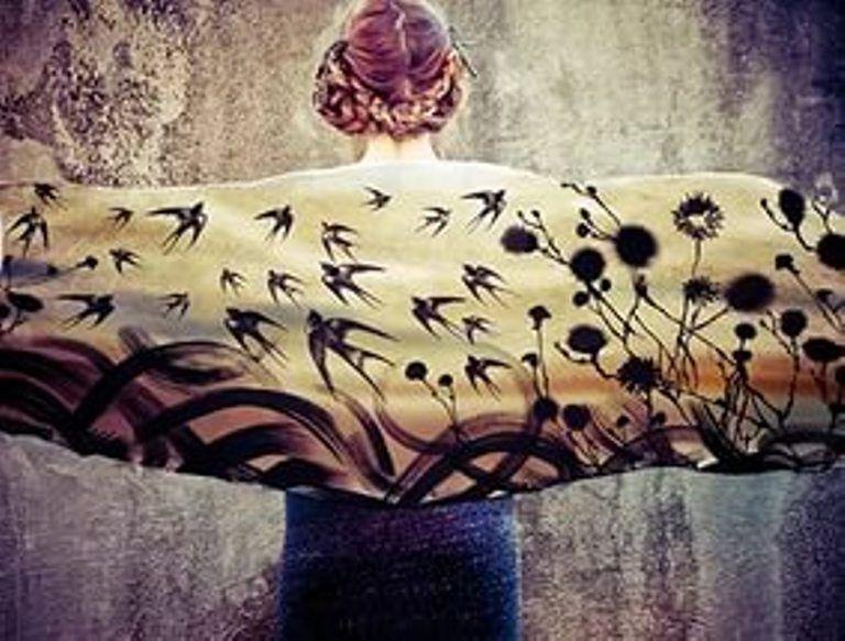 Когда вырастают крылья: завораживающие палантины Розы Хамитовой, фото № 7