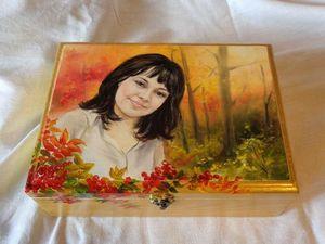 Процесс работы над шкатулкой для украшений с портретом. Ярмарка Мастеров - ручная работа, handmade.