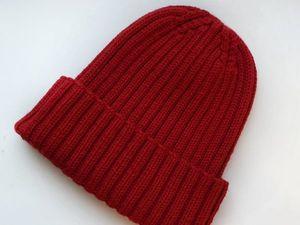 Вяжем шапку-резинку с небанальной макушкой. Часть 1. Ярмарка Мастеров - ручная работа, handmade.