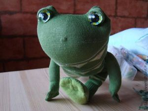 Лягушонок из носка: мастер-класс. Ярмарка Мастеров - ручная работа, handmade.