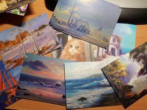 Мои картины участвуют в проекте Посткроссеров!. Ярмарка Мастеров - ручная работа, handmade.